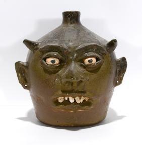 Lanier Meaders.  Rock Tooth Devil Face Jug.