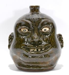 Lanier Meaders. Big Smiling Rock Tooth Face Jug.