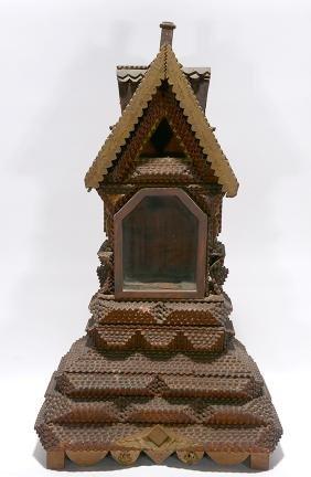 Tramp Art Cuckoo Clock Case.