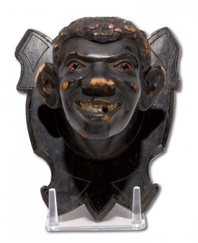 Tobacconist Black Plaque Portrait.