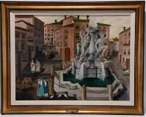 Lawrence Lebduska. Fountain of St. Mattei-Rome.