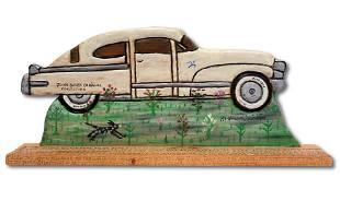 Howard Finster. John Baeder's Cadillac.