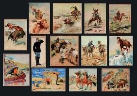 Oscar Nahlstrom.  13 Western Watercolors.