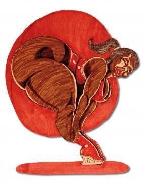 B.E. Riddick. Balancing On High Heel Boots.
