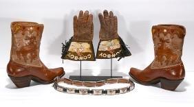 Child's Western Cowboy Gloves, Boots & Belt.