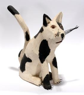 Ron Rodrigues.  Black and White Cat.