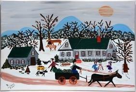 Barbara Wikle.  Winter Scene.
