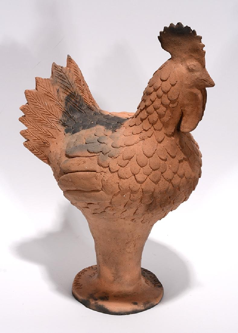 Clint Alderman. Mud Creek Pottery Rooster.