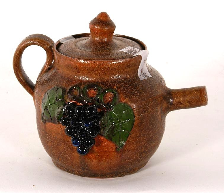 Mildred Meaders. Grape Decorated Tea Pot.