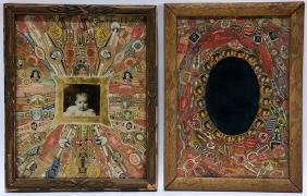 Cigar Label Decoupage Baby Photo and Mirror.