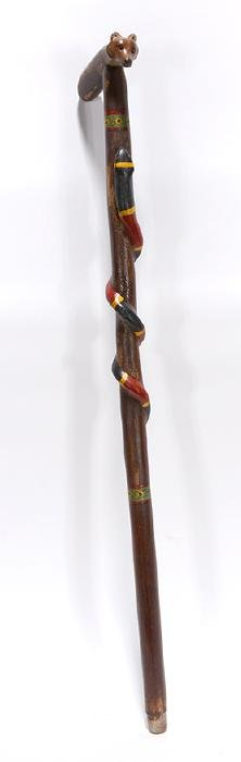 Coral Snake With Fox Handle Cane.