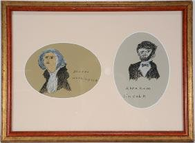 George Washington & Abe Lincoln Drawings.