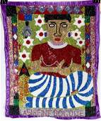 Gabriel Lalanne. Voodoo Woman With Snake Body Flag.