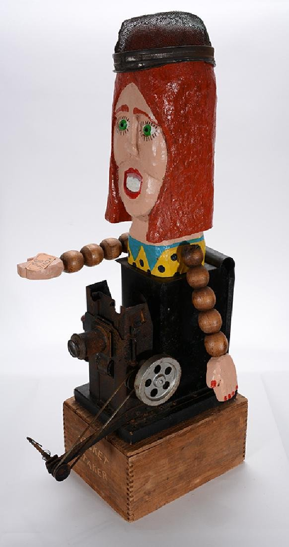 Tom Steck.  Mixed Media Ticket Taker Construction.