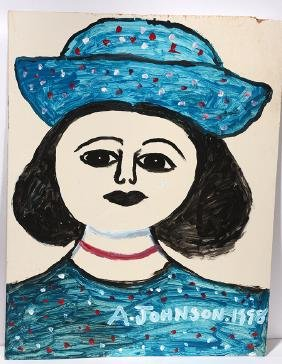Anderson Johnson. Girl With Blue Hat.