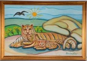 Z. Latnikov. Momma Tiger & Cub.