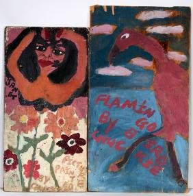 Artist Chuckie Williams. Janet Jackson & Flamingo.