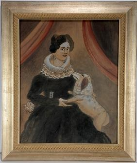 Antonio Romano. Victorian Woman With Dog.