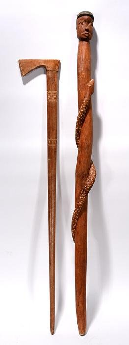 Tomahawk & Snake With Man Canes.