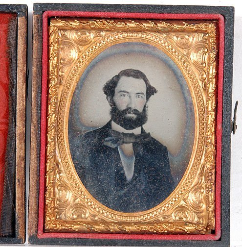 11: Gentleman with Beard and Side Burns Ambrotype