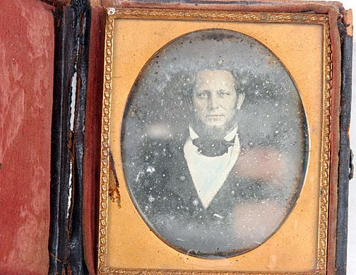 14: Man with Big Ears, Mouth & Head Daguerreotype