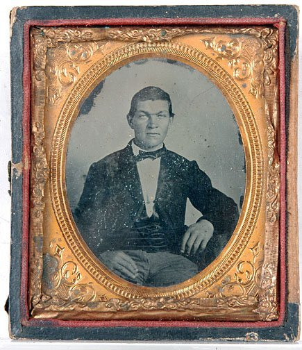 17: Young Man with Small Bow Tie Ambrotype