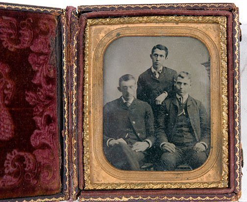 20: Three Sad Looking Men Tintype