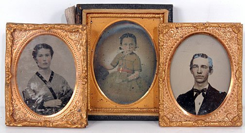 21: Three Portraits Ambrotypes