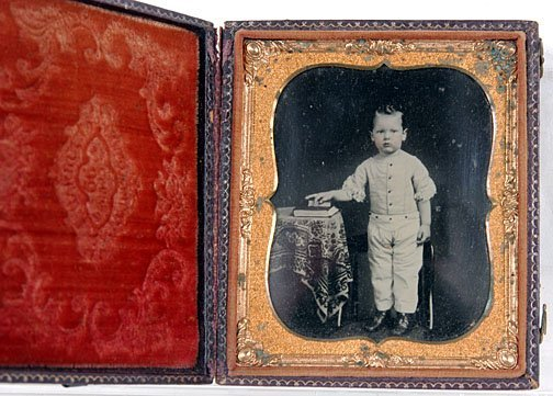 23: Small Boy with Sleeves Rolled Up Ambrotype