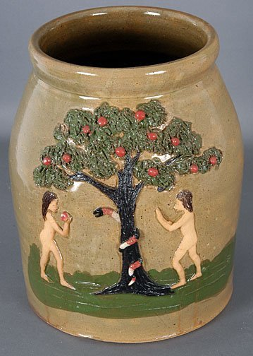 14: Wilford Dean  Adam & Eve Jar
