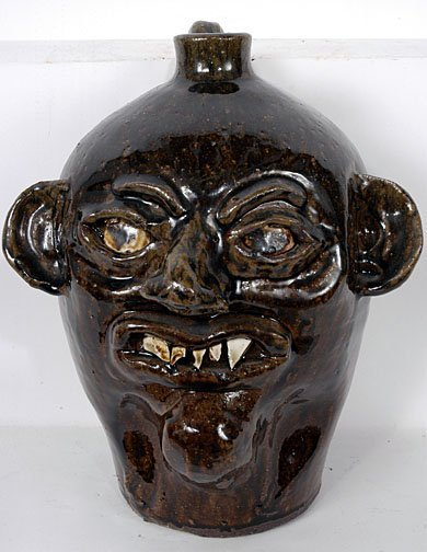 21: Grace Nell Hewell Face Jug