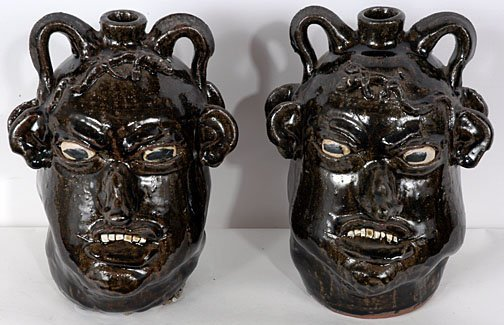 23: Chester Hewell Two Double Face Politician Jugs
