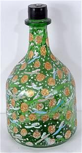 226: Howard Finster Painted Wine Bottle