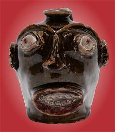 Slave-Made Edgefield Face Vessel.