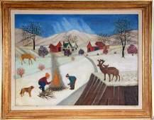 Lawrence Lebduska. Winter Scene.
