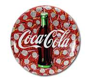 Howard Finster. Coca-Cola Button Sign.