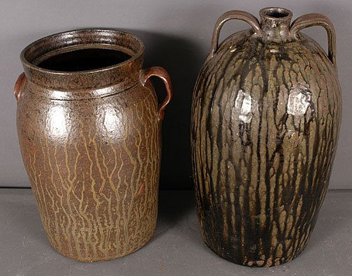 3: Wiley Meaders (attributed) Churn and Syrup Jug.