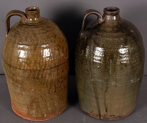 8: Craven Pottery Pair of Whiskey Jugs.