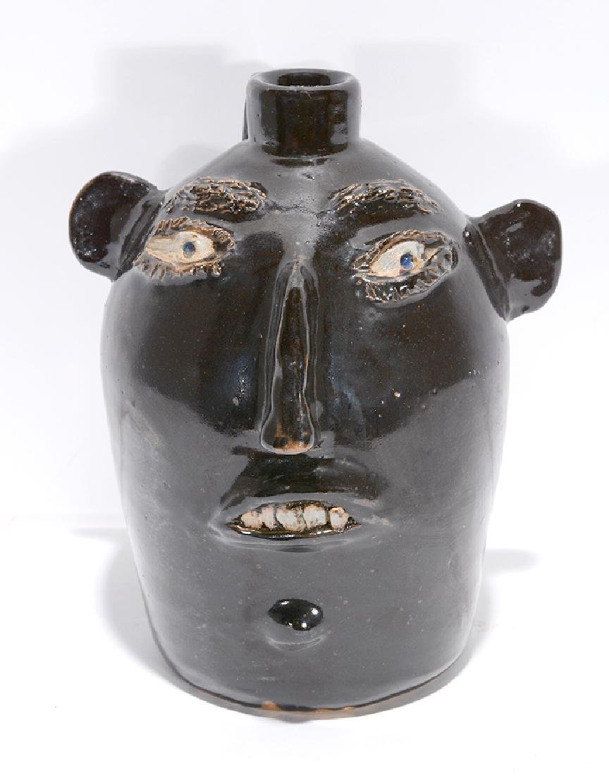 Jerry Brown. Black Face Jug.