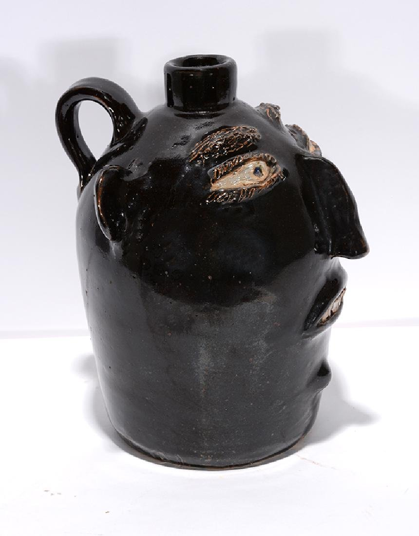 Jerry Brown. Black Face Jug. - 2