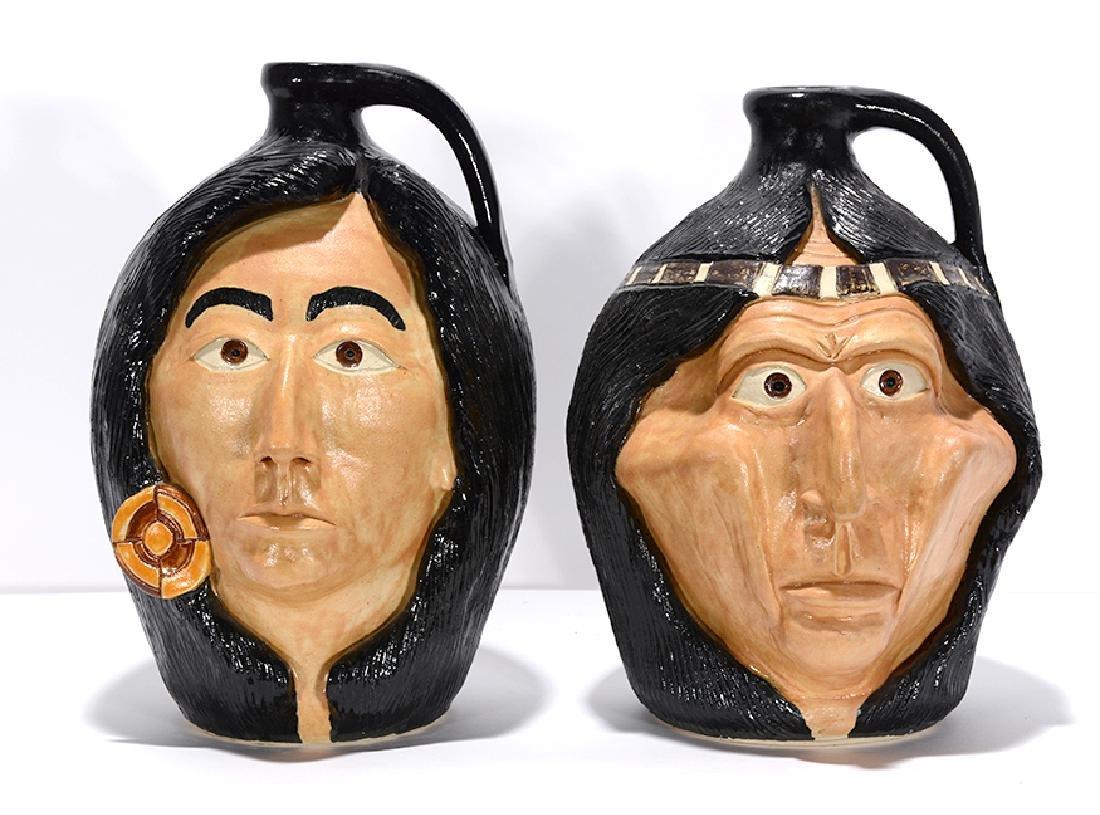 Michael & Melvin Crocker. Indian Face Jugs.