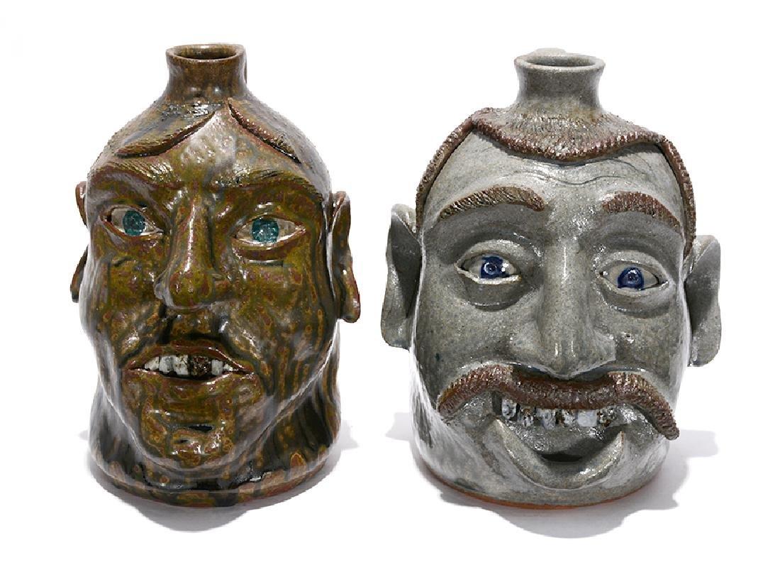Michael Crocker. Rock Tooth Face Jugs.