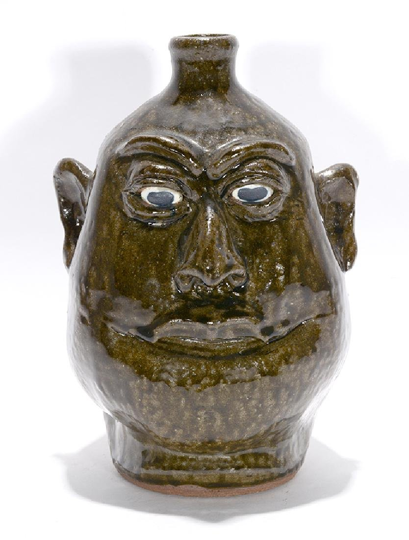 Lanier Meaders. Toothless Grin Face Jug.