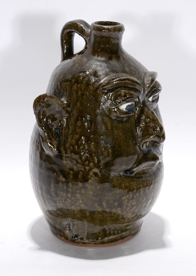 Lanier Meaders. Toothless Grin Face Jug. - 2