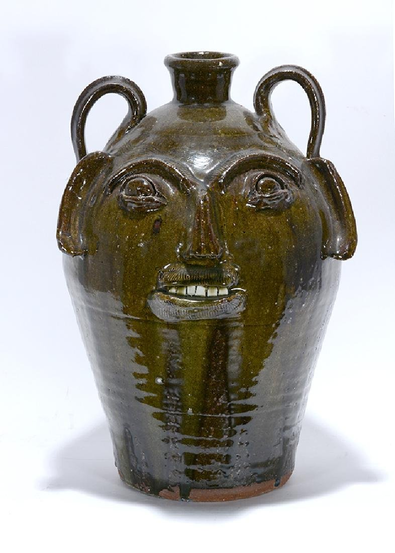 B.B. Craig. 5 Gallon Wood-Fired Face Jug.