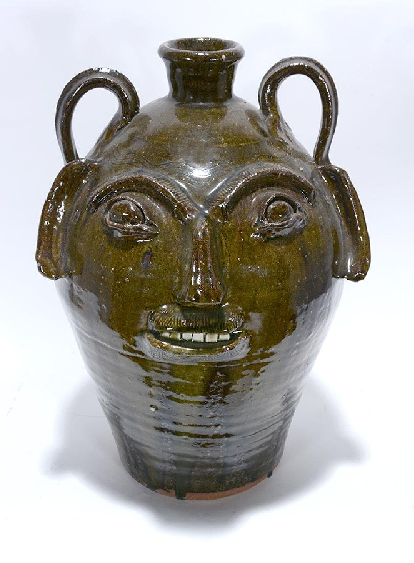 B.B. Craig. 5 Gallon Wood-Fired Face Jug. - 2