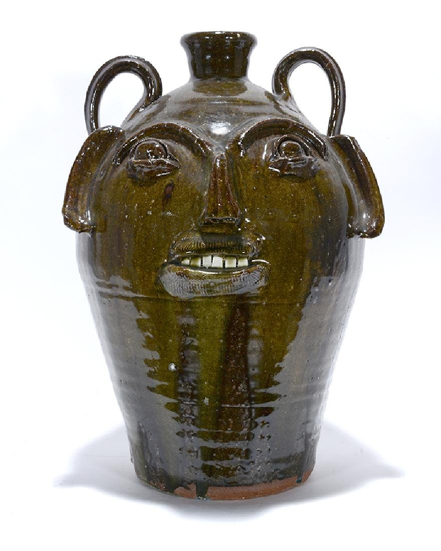 B.B. Craig. 5 Gallon Wood-Fired Face Jug. - 3