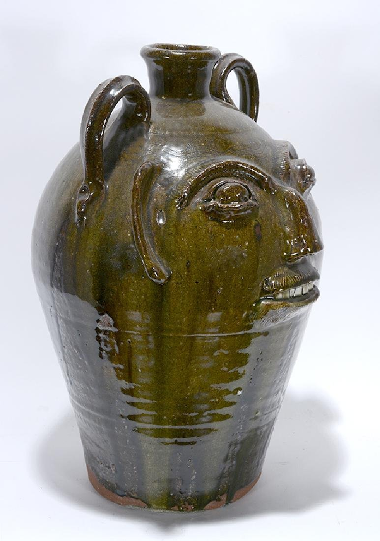 B.B. Craig. 5 Gallon Wood-Fired Face Jug. - 4