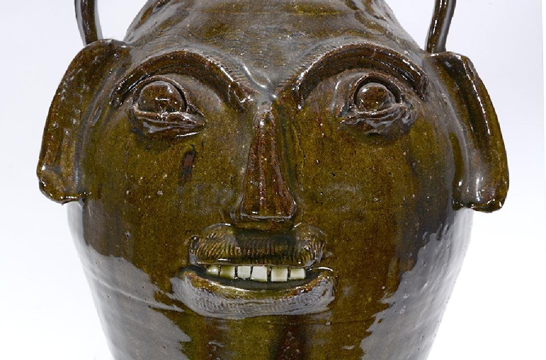 B.B. Craig. 5 Gallon Wood-Fired Face Jug. - 7