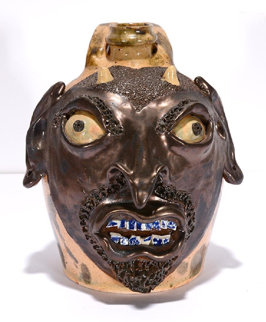 Billy Ray Hussey. Devil Face Jug.